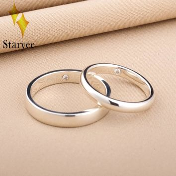 STARYEE Classic 18K Solid White Gold Natural Real Diamond SI/H Ring For Women Anniversary Engagement Wedding Party Fine Jewelry