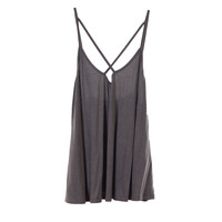 Olivaceous Womens Grey Cross Tank