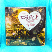 """Vintage 80s PRINCE Sign """"O"""" the Times Double Vinyl Record LP"""