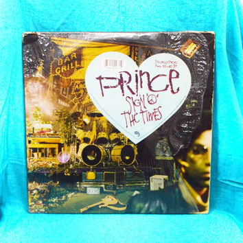"Vintage 80s PRINCE Sign ""O"" the Times Double Vinyl Record LP"