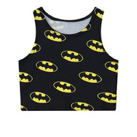 Bat Mini Slim Sleeveless Crop Top Batwing Sleeve Tank Top = 4824023108
