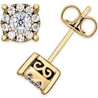 Macy's Diamond Stud Earrings (1/3 ct. t.w.) in 14k Gold, Rose Gold or White Gold Jewelry & Watches - Earrings - Macy's