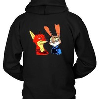 Zootopia Funny Expressions Hoodie Two Sided