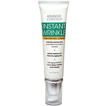 [Pack of 2 x 2fl oz] Advanced Clinicals Instant Wrinkle Tightening Cream. Targets and improves the look of sagging skin, dryness,...