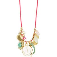 Multi Charm Rope Necklace