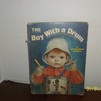 vintage 1971 golden the boy with a drum book