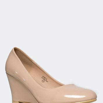 Molli Low Closed Toe Wedge Heel