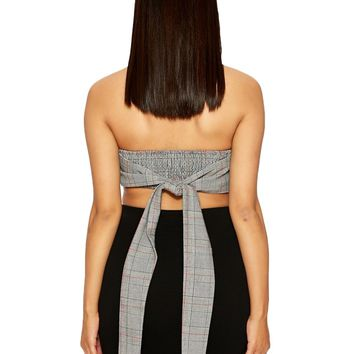 The Houndstooth Crop - Tops - Womens