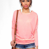 Long Gone T-Shirt in Neon Pink :: tobi