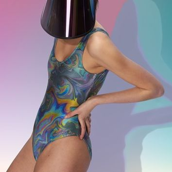 Women's Clashist 'Oil Slick' One Piece Swimsuit,