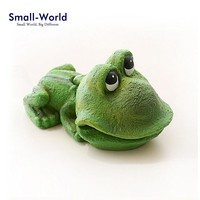 Funny Frog Figurine Decoration Aquarium fish tank can Open Mouth animal statue sculpture resin craft toy TNF004