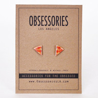 Pepperoni Pizza Earrings Slice Of Pizza Slice Junk Food Earrings Stud Earrings Pizza Jewelry Pizza Accessories 90s Grunge Earring Pizza Gift
