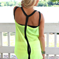 Neon Vibes Tank - Lime