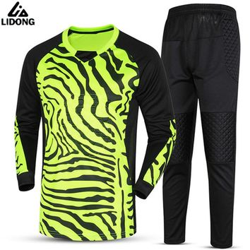 Kids Child Boy Soccer Goalkeeper Jerseys survetement Football 2018 Shirts Goalkeeper Training jersey clothing Quick Dry Printing