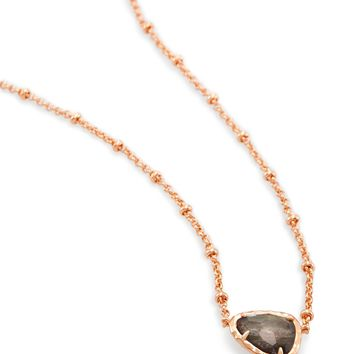 Arleen Rose Gold Pendant Necklace in Gray | Kendra Scott