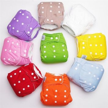 MultiColor Newborn Baby Infant Adjustable Reusable Washable Cloth Baby Diaper Cover Nappy Wrap Inserts Children Clothing