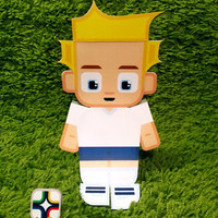 England football soccer craft activity. Printable paper toy. Instant download. Make you own cards, banners and football soccer bunting!