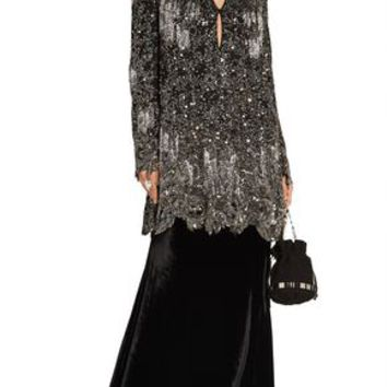 Embellished silk-georgette mini dress | ROBERTO CAVALLI | Sale up to 70% off | THE OUTNET