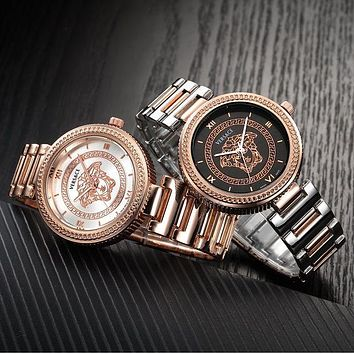 Versace fashionable men and women fashion quartz movement watch F