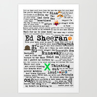 Ed Sheeran X Art Print by Adel