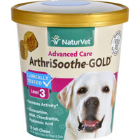 Naturvet Arthrisoothe-gold - Level 3 - Dogs And Cats - Cup - 70 Soft Chews