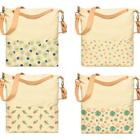 Watercolor Flowers Patterns-1 Print Canvas Crossbody Messenger Bags WAS_35