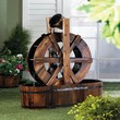 Spinning Wood Outdoor Water Mill Fountain