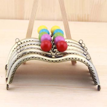 20pcs/lot 11cm assorted color sewing metal purse frame with candy kiss clasp coin bag making accessories parts Freeshippig
