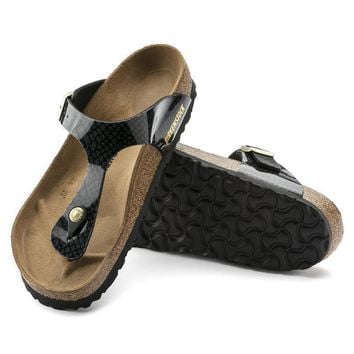 Sale Birkenstock Gizeh Birko Flor Magic Snake Black 1009113 Sandals