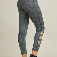 Ladder Workout Yoga Pants-Black-Gray