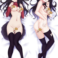 New Fate Saber Night Rin Tohsaka Anime Dakimakura Japanese Pillow Cover MGF12099
