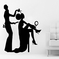 Wall Decal Vinyl Sticker Decals Beauty Salon Make up Girl Woman Makeup Eyes Face Lips Fashion Cosmetic Hairdressing Hair Home Decor Art Bedroom Design Interior C472