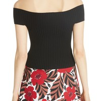 kate spade new york off-the-shoulder rib knit sweater | Nordstrom