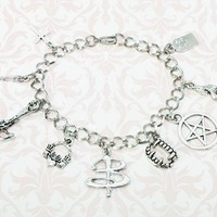 Vamp Killer Charm Bracelet, inspired by buffy the vampire slayer