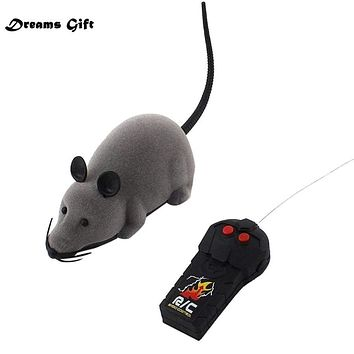 RC Funny Wireless Electronic RC Mouse Rat Pet Toy for Kids