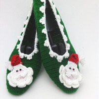 santa claus christmas slippers,  Christmas slipper with Santa Claus , home slippers, yoga, healthy, shoes Gift for christmas