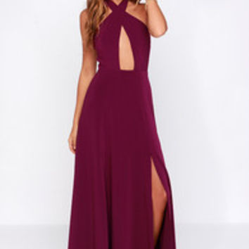 Style Stalker Zero Hour Burgundy Maxi Dress