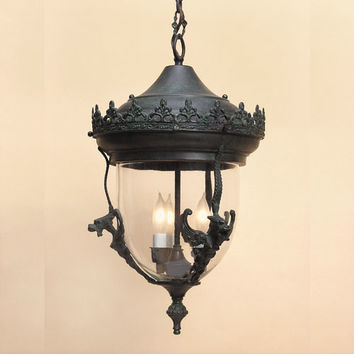 JVI Designs 1105-25 Gryphon Small Verde Three-Light Outdoor Pendant