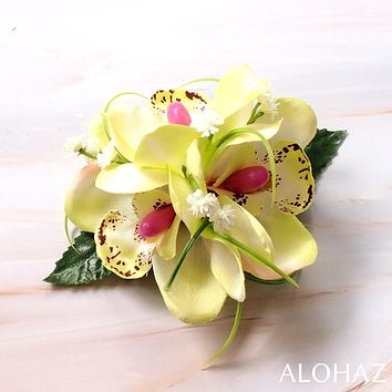 Sage Green Orchid Wonder Hawaiian Flower Hair Clip