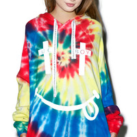 BOY London United Boy Acid Hooded Sweatshirt Tie Dye