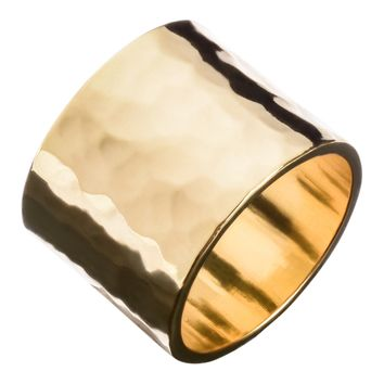 Men's Hammered Cigar Band Ring