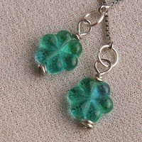 Proud Irish Shamrock Earrings Hypo-Allergenic Silver | peaceloveandallthingsjewelry - Jewelry on ArtFire