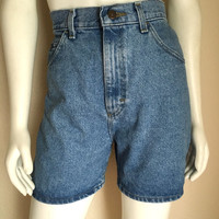 Vintage Women's 80's Lee, Jean Shorts, High Waisted, Denim (M)