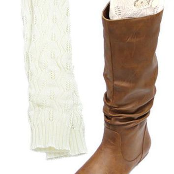 Once Upon A Time White Lace Boot Socks