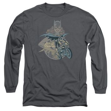 Dc - Batgirl Biker Long Sleeve Adult 18/1 Officially Licensed Shirt