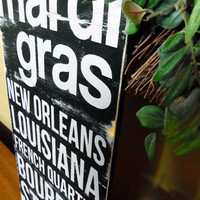 Mardi Gras Typography Wall Art by 13pumpkins on Etsy