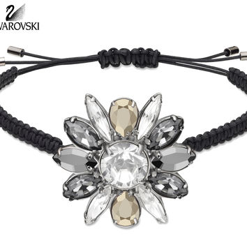 Swarovski By Shourouk Crystal Jewelry Bracelet Black #5019149