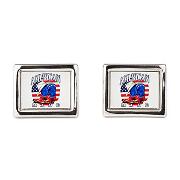 Cufflinks (Rectangular) US American Flag Country Cowboy Boots