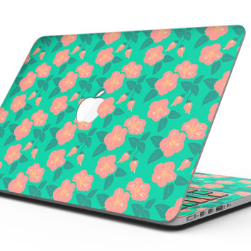 Tropical Coral Floral v1 - MacBook Pro with Retina Display Full-Coverage Skin Kit