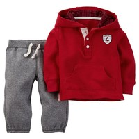 Carter's ''North Pole Champs'' Henley Hoodie & Knit Pants Set - Baby Boy, Size: